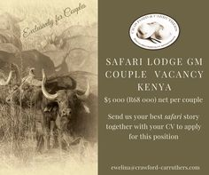 #crawfordcarruthers @crawfordandcarruthers ##safari #safarijobs #kenya  #kenyajobs #lodgegm #lodgegm #lodgejobs #lodgecouples #exclusivelyforcouples Kenya, Safari, How To Apply, Island, Celestial, Website, Outdoor, Outdoors, Islands