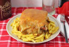 Receta fácil con explicación paso a paso para preparar en casa una francesinha,el sándwich más típico de la localidad portuguesa de Oporto.