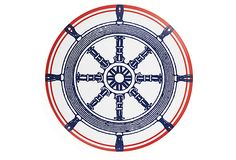 S/4 Nautical Dinner Plates, melamine for outdoor dining.