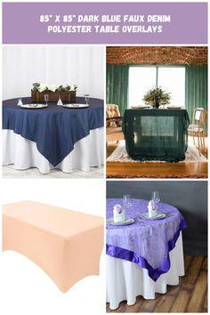 x Dark Blue Faux Denim Polyester Table Overlays wedding tables covers x Dark Blue Faux Denim Polyester Table Overlays Table Overlays, Wedding Tables, Designer Wedding Dresses, Wedding Designs, Dark Blue, Curtains, Shower, Denim, Rain Shower Heads