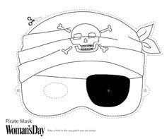 Free Printable #Halloween Masks - Print and color Pirate Mask.