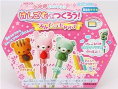 DIY clay making kit pencil caps kawaii animals erasers 1