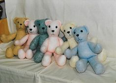 Cartamodello-orsi-di-stoffa-gratis Pattern and instructions in PDF Teddy Bears free