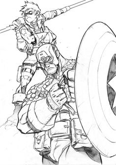 Bucky coloring pages ~ 57 Best LineArt: Bucky Barnes / Winter Soldier images ...