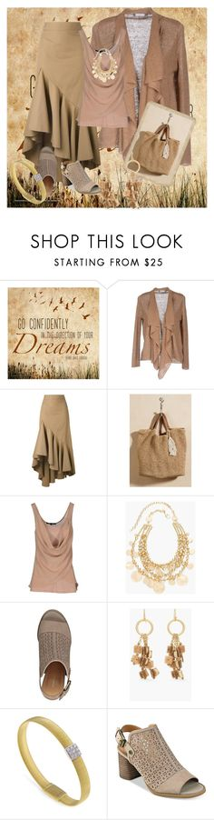 """""""Pretty Beige"""" by chris1017 ❤ liked on Polyvore featuring Metamorfosi, Erika Cavallini Semi-Couture, French Connection, Chico's, Marco Bicego and Tommy Hilfiger"""