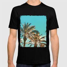 Tropical Palm Trees - Vintage Turquoise Sky T-shirt by staypositivedesign Sky T, Vintage Turquoise, Palm Trees, Cool T Shirts, Tropical, Mens Tops, Fashion, Palm Plants, Moda