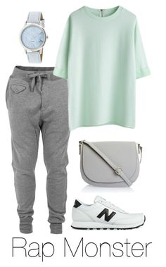 """Rap Monster Inspired: Pastel"" by btsoutfits ❤ liked on Polyvore featuring Diesel and New Balance"