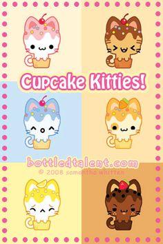 Cupcake Kitties by *celesse