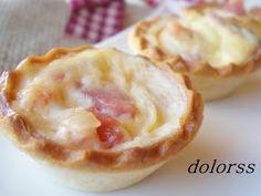 Blog de cuina de la dolorss: Minitartaletas Lorraine (Microondas)