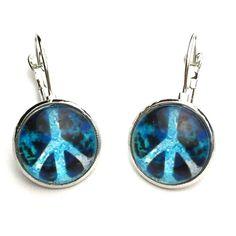 Blue peace symbol earrings Blue peace symbol earrings Jewelry Earrings