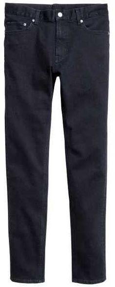 H&M - Skinny Low Jeans - Dark denim blue - Men Dark Denim, Blue Denim, Low Rise Jeans, Skinny, Stylish, Pants, Men, Tops, Fashion