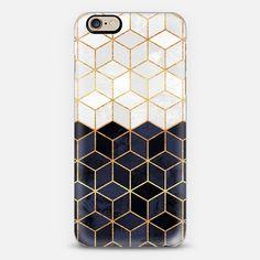 White & Navy Cubes - New Standard Case
