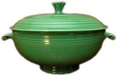 Fiesta Dinnerware Covered Casserole in Medium Green - Produced from 1935-1969