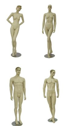 Find unique collection of wholesale male and female mannequins with different styles, poses and colors with retail display service and installation in Toronto, Canada. Different Styles, Toronto, Poses, Statue, Female, Display, Collection, Figure Poses, Floor Space