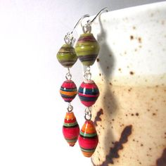 paper bead jewelry - Google Search