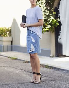 8 Ways to Wear a Denim Skirt like a Grown-Up