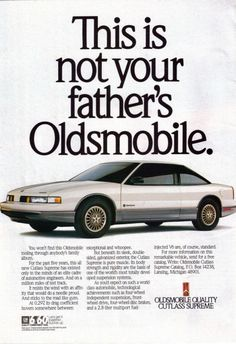 car 1988 Oldsmobile Cutlass Supreme Silver w/ honeycomb rims Vintage Advertisements, Vintage Ads, Vintage Signs, Oldsmobile Cutlass Supreme, Automobile, Car Brochure, Car Posters, Car Advertising, Us Cars