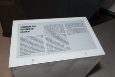 Estonian history now on electronic paper - Visionect