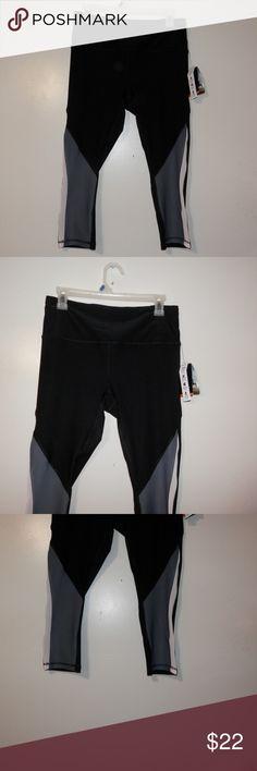 ffd887d7078420 RBX Womens L Activewear Leggings Capri Black Gray RBX Womens Activewear  Leggings Capri L Black Gray
