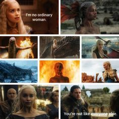 Daenerys Targaryen appreciation post with her quote from 2x06 and Jon's quote from 7x07