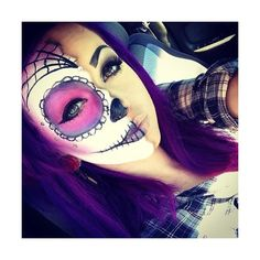 I wanted to be a sugar scull for Halloween so bad last year. I'm thinking this year for sure.