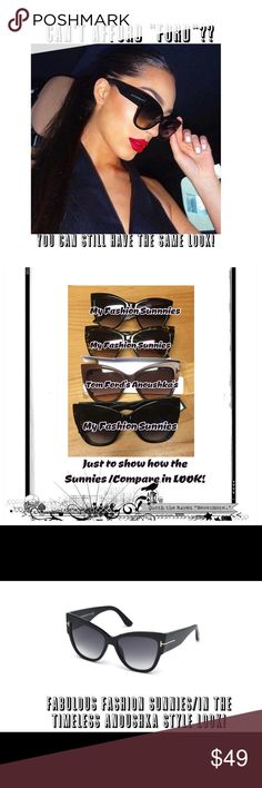 """💞Nip/Quality Fashion Sunglasses from Sunglass Hut 💞Nip/FASION Sunglasses give U what U CAN't A""""FFORD"""" at an A""""FFORDABLE"""" PRICE! I know it's a PLAY on words but it's a LOOK w/o a HUGE $$ investment! Trust me we all would wear, the """"FORD"""" """"Anoushka experience""""if we could/this is the""""Gal on a Budget Fix!"""" These R GREAT QUALITY FASHION Sunnies/I've a few! Black & Tortoiseshell ALL come with MicroFiber Cloth Bag/2 clean/protect + Case/Ur choice of pattern! Just message with any…"""