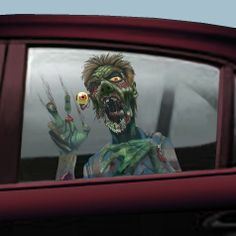 Amscan Car Window Zombie Grabbers Halloween Trick or Treat Party Decoration (F)