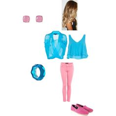 """Cotton candy"" by rachel-vatter on Polyvore"