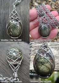 wire wrapped jewelry patterns | Wire Wrap Jewelry and Tutorials by WireBliss: Simple techniques and ...