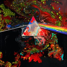 Pink Floyd - Liquid Darkside Of The Moon Storm Thorgerson Storm Thorgerson, Pink Floyd Dark Side, Art Pink Floyd, Rock N Roll, Musica Punk, Pink Floyd Albums, The Dark Side, Gifs, Think