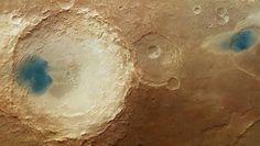 """Cosa sono le misteriose """"lagune blu"""" sulla superficie di Marte    Phobos Project"""