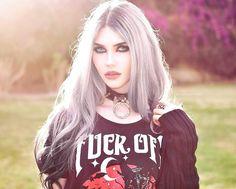 Gothic and Amazing Nu Goth Fashion, Dark Fashion, Grunge Fashion, Fashion Models, Denim Fashion, Women's Fashion, Gothic Girls, Hot Goth Girls, Alternative Mode