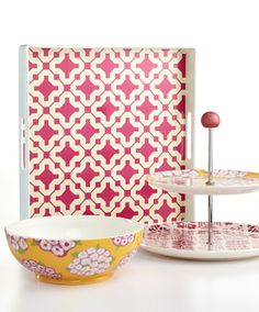 Martha Stewart Collection Poppy Mix & Match Serveware Collection -- Available at Macy's!