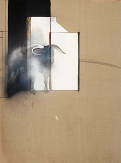 Francis Bacon: final painting Study of a Bull, 1991