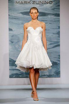 A cute short wedding dress from Mark Zunino 2015 bridal collection.