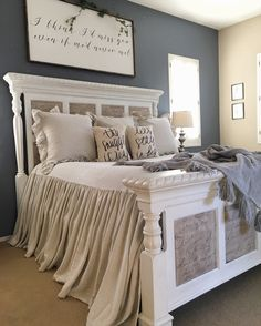 Rustic Farmhouse Bedroom Ideas For A Rustic Country Home more search: farmhouse bedroom decorating ifarmhouse decorating ideas bedroom, deas, farmhouse master bedroom ideas, farmhouse style bedroom ideas, modern farmhouse bedroom ideas. Rustic Master Bedroom, Bedroom Makeover, Bedroom Decor, Beautiful Bedrooms, Master Bedroom Remodel, Home, Home Bedroom, Remodel Bedroom, Home Decor