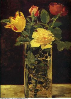 Edouard Manet » Rose and tulip