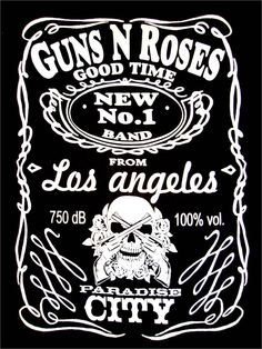 "Guns & Roses ""Jack Daniels"" UK tour t-shirt"