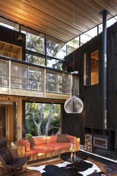 Dunkle und gemütliche Wohnzimmer-Interieurs - #WohnzimmerIdeen