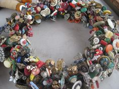 Wreath from Mindy Weiss Blog - Amazing! (No instructions on how to make this beauty, though!)  :-(