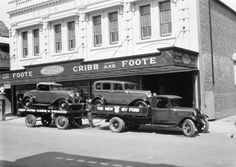 Cribb and Foote garage then Ipswich Qld, Old Trucks, Back In The Day, Family History, Car Dealers, Australia, Cars, Buses, Airplanes