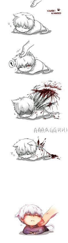 Chibi neko Kaneki Ken cuteness <333