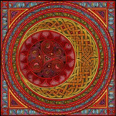Jerrie I pinned this for you. Love Judy Mandala - Celtic Sun And Moon by CherrieB