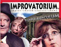 """postcard for """"Improvatorium,"""" sketch comedy & improv school, Los Angeles.  www.improvatorium.com"""