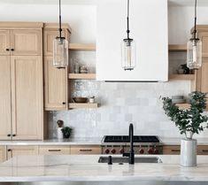 Interior Design Basics, Beige Cabinets, My Ideal Home, Kitchen Backsplash, Kitchen Cabinets, Color Tile, House And Home Magazine, Subway Tile, Beautiful Kitchens