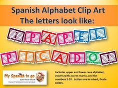 Every Spanish teacher needs some papel picado!  Here is a collection of jpegs for the Spanish alphabet.
