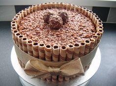 Ferrero Rocher flavour cake