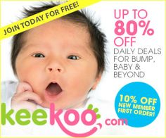 You're sooo gonna LOVE Keekoo.com, it's a members only maternity to baby deals site at up to 80% off! When you join - you will get 10% off your first order + I'll earn keekoo cash on your first purchase. (That's how great the referral program is - you MUST check it out when you sign up) www.keekoo.com When you join for free… you'll get full access to limited runs of the latest, freshest insider and celeb maternity and baby gear at up to 80% off!
