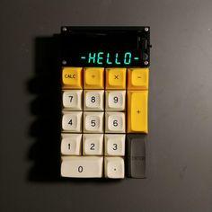 Arduino, Diy Mechanical Keyboard, Mechanical Calculator, Pc Keyboard, Cyberpunk Aesthetic, Arte Robot, Custom Pc, Old Computers, Pc Setup