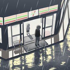 お気に入りの傘 Dark Art Illustrations, Art Et Illustration, Mood Wallpaper, Anime Wallpaper Live, Anime Fantasy, Dark Fantasy Art, Sad Angel, Sun Projects, Anime Crying
